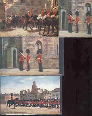 pc9919 postcard Tuck's  MOBSC FOUR London Mounted Guard Horses