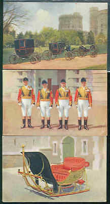 pc9929 postcard Tuck's Oilette  THREE  Windsor Castle 2 used 1 not