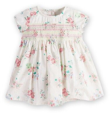 ВNWT NEXT Party • Ecru Floral Embroidered Dress+Pants • 100% Cotton • 6-9 Months