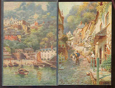 pc9902 postcard Tuck's Oilfacism MOBSC TWO Clovelly