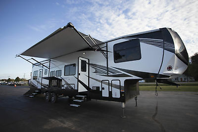 Check out this Brand New in Stock 2018 Torque TQ371 5th Wheel Toy Hauler