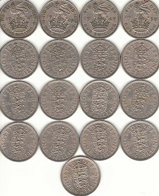 One Shilling Coins (1/-)  English 1947-1966 Coin Hunt