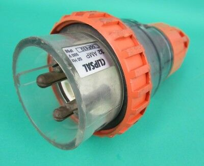 Clipsal 56P432 3 Phase Extension Plug 32 Amp 4 Pin Used