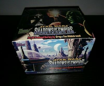 ULTRA RARE Topps Star Wars Shadows Of The Empire Trading Card Box 1996