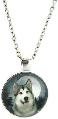 Husky Necklace  Dog Jewelry Boys Pendant Xmas Gift for Holiday Canine Unique