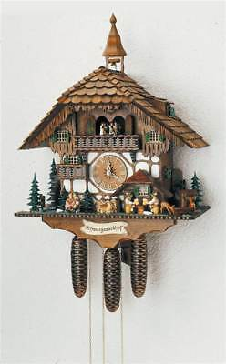 8-Day Black Forest House Cuckoo Clock w Two Melodies [ID 93526]