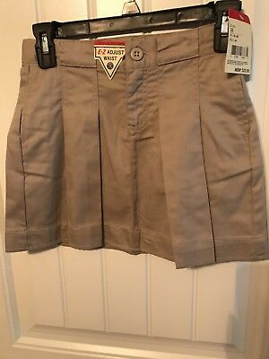 Oshkosh Girl Adjustable Waist Khaki School Uniform Skort Girls Size 10 Nwt