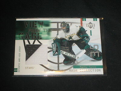 Marty Turco Nhl Legend Certified Authentic Hockey Game Used Jersey Card Nice