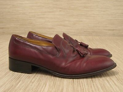 32451c661a6 Bally Continentals Belmont Burgundy Leather Shoes Men s Size 8.5 M Loafers
