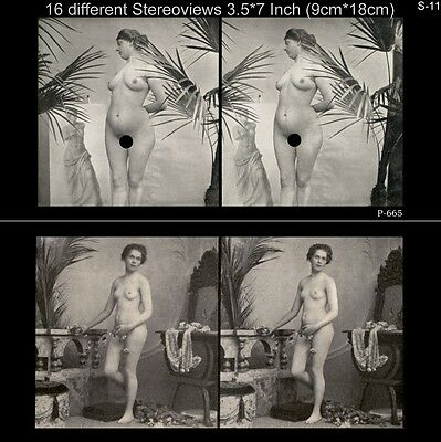 16 Akt - Stereofotos klassik Nude, Paris 1910, Lot 11