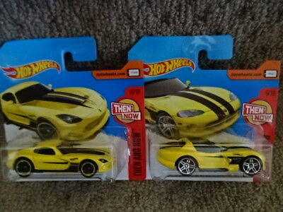 Hot Wheels Then and Now Viper - TWO. Dodge Viper RT/10 and 2013 SRT Viper