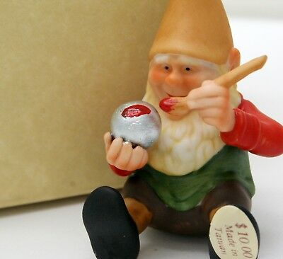 "1987 Hallmark Hand Painted Porcelain Elf Painter Figurine""Emil"" New Old Stock"