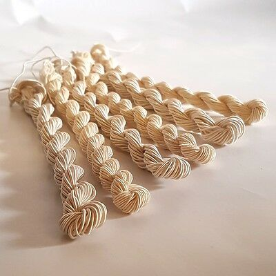 Undyed Viscose Gimp Yarn Thread, Embroidery Crochet Macrame 0.75mm & 1.5mm - 5g