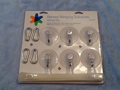 New, Sealed FedEx Kinko's Banner Hanging Solutions Banner Kit suction cups clips