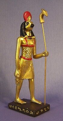 NEW Golden Horus Holding Ankh with Staff Egyptian Style Figurine 15 cm High