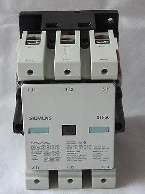 Siemens 3TF5022-OAFO, 3 Phase Contactor, Coil 110V, Current 110A [2R8B]