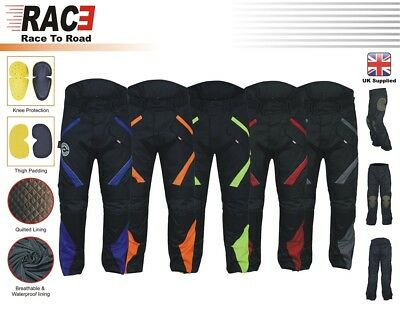 RAC3 Mens Textile Cordura Waterproof CE Armoured Motorbike Motorcycle Trousers