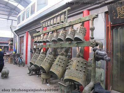 Huge Chinese pure Bronze Royal Musical Instruments Chimes set Dragon bells Bell