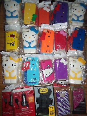 80+ items! Wholesale Close-out lot Hello Kitty cases for phones iphone ipods