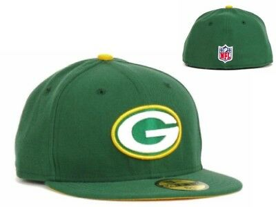 NWT Green Bay Packers New Era NFL Youth Kids On Field 59FIFTY Cap Hat 6 3 5001869d1