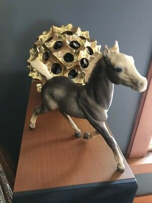 """Grey and White Breyer Molding Co. Horse Foal Pony Running 7"""""""