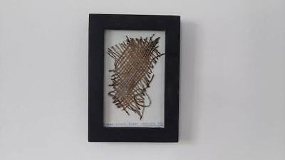 rarely Roman cloth from the first century AD, framed