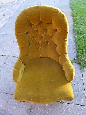 Edwardian Bedroom Chair - Project for refurbishment / re-upholstery