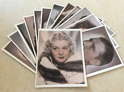 "VINTAGE - 13 CELEBRITY COLOR LITHOGRAPH""S - 1930's - 40's - SUPER NICE - 8 x 10"