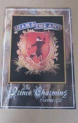 ADAM AND THE ANTS The Prince Charming Revue RARE ORIGINAL UK 1982 TOUR PROGRAMME