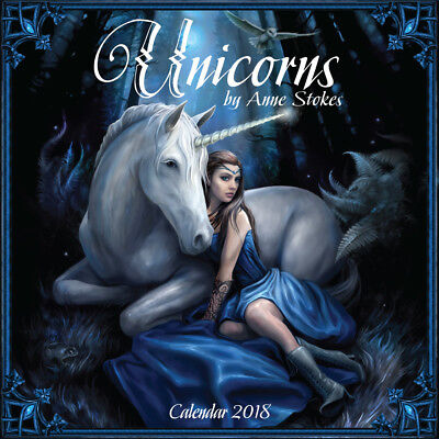 Gorgeous Unicorns by Anne Stokes 2018 Square Wall Calendar