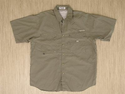 105ee98b0e3 Columbia Green PFG Performance Fishing Gear Shirt Men's XL Short Sleeve  Vented