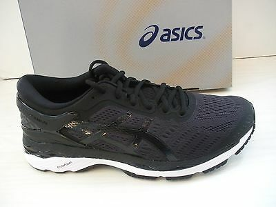 Asics Womens Gel-Kayano 24 Running Sneakers-Shoes-T799N -9016- Black/phantom/wht