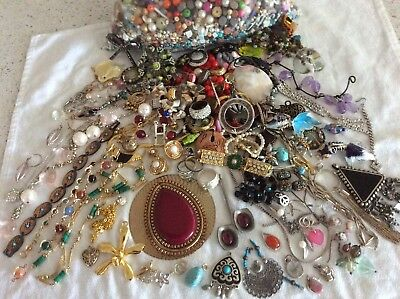 Bulk Lot Vintage Jewellery For Craft