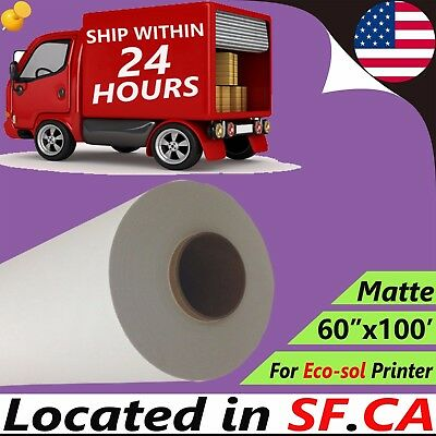 """60"""" x 100' Matte Polyester Cotton Inkjet Printing Canvas for Eco-Solvent Printer"""