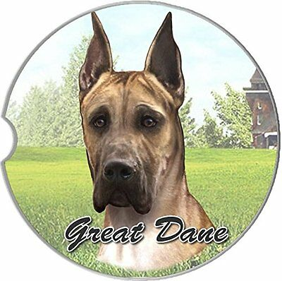 Great Dane Car Coaster Absorbent Keep Cup Holder Dry Stoneware New Big Dog