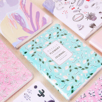 2018 Agenda Planner Monthly  Weekly Portable A6 Calendar Notebook Diary Flowerys