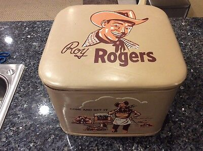 Roy Rogers Leather Toy Chest Box Ottoman Western 1950s With Lid Bullet Toys Lot