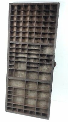 Vintage/Retro wooden Printers letterpress tray/drawer shadowbox CAN POST #3