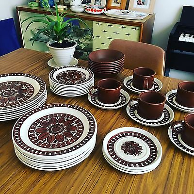 Midwinter Stonehenge Medallion Dinner Service - 42 Pieces Retro Stoneware 60s