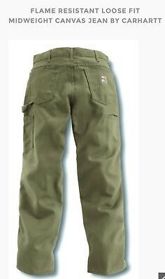 Carhartt FR Midweight Canvas Jeans FRB159-GKH 36x34 (NEW)