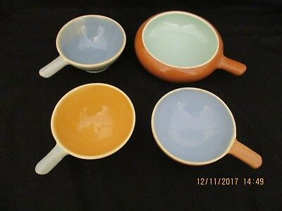 ~4 x MARTIN BOYD RAMEKINS - BLUE - GREEN - OCHRE - REPLACEMENTS - VGC~