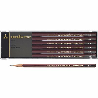 uni Mitsubishi USHB uni star HB Hexagonal Body Pencil (1 Dozen) BBG