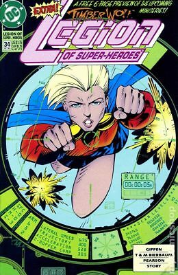 Legion of Super-Heroes (4th Series) #34 1992 VG Stock Image Low Grade