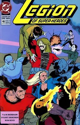 Legion of Super-Heroes (4th Series) #46 1993 VF Stock Image