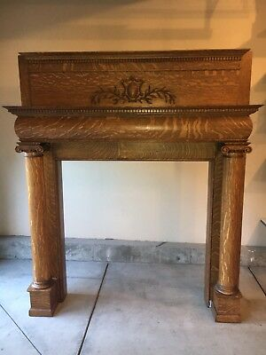 antique fireplace mantel surround
