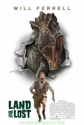 LAND OF THE LOST MOVIE POSTER Original DS 27x40 WILL FERRELL TYRANNOSAURUS REX