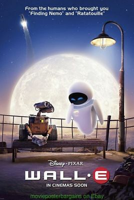 WALL-E MOVIE POSTER DS 27x40 English International Style DISNEY PIXAR ANIMATION