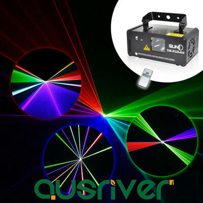 SUNY RGB 400 Laser Line Scan Beam DMX DJ Dance Bar Club Party Disco Stage Light