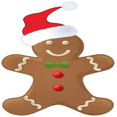 30 Custom Christmas Gingerbread Man Personalized Address Labels