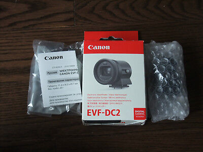 Brand New Canon EVF-DC2 Black Electronic Viewfinder for EOS M3 M6 - Damaged Box